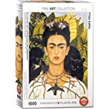 EuroGraphics Self Portrait with Thorn Necklace and Hummingbird by Frida Kahlo (1000 Piece) Puzzle