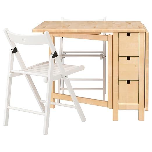 Zigzag Trading Ltd IKEA Norden/Terje - Mesa y 2 sillas de Abedul ...