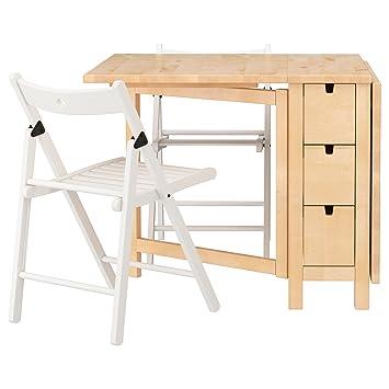 Zigzag Trading Ltd Ikea Norden Terje Tisch Und 2 Stuhle Birke Weiss