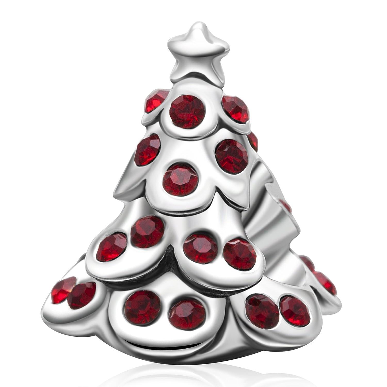 Ciondolo di Natale in argento Sterling 925,campanelli della renna, regalo di Natale campanelli della renna colore: Christmas Stocking cod. SK-01