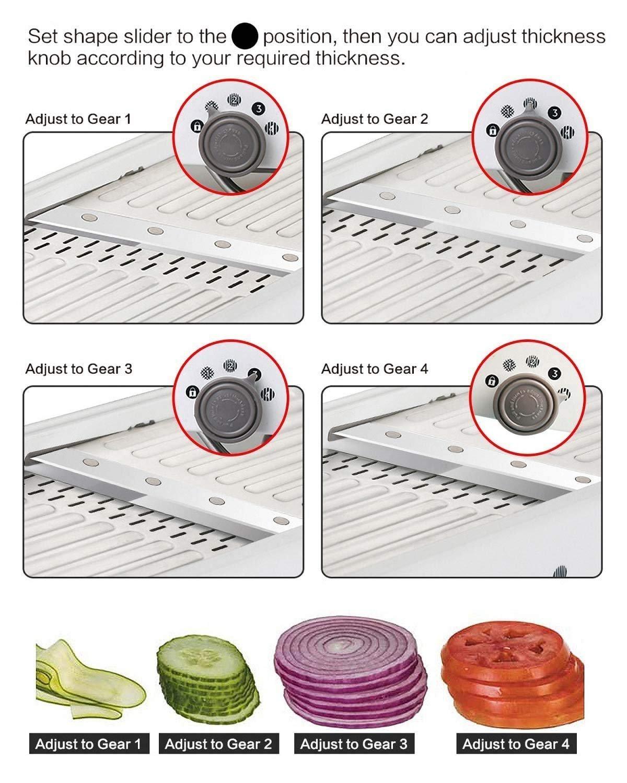 Adjustable Mandoline Slicer Kitchen Stainless Steel Manual Cutter Shredder Julienne for Slicing Food Fruit Vegetables yougeyu