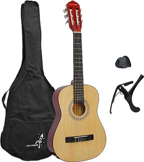 Rocket XF201EN XF Serie - Guitarra española clásica, color natural ...