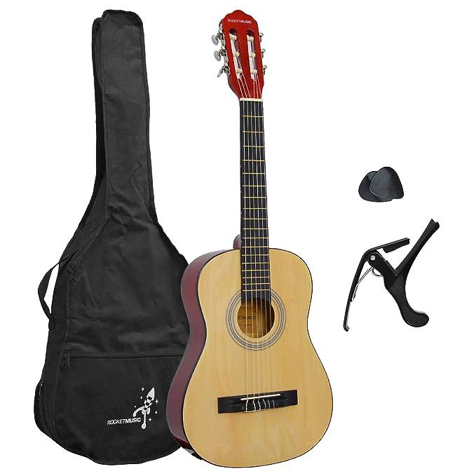 Rocket XF201EN - Paquete básico para guitarra clásica: Amazon.es: Instrumentos musicales