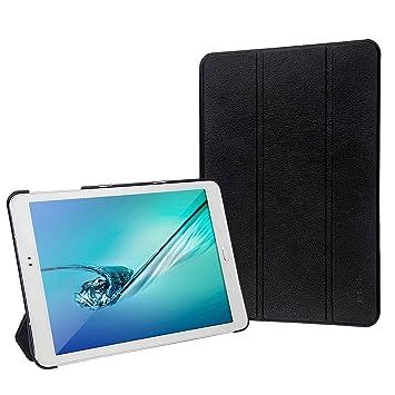 JETech 3320- Funda para Samsung Galaxy Tab S2 9,7, Carcasa con Soporte Función, Auto-Sueño / Estela, Negro