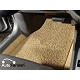 Autofurnish Anti Skid Curly Car Foot Mats (Beige) for Hyundai Accent