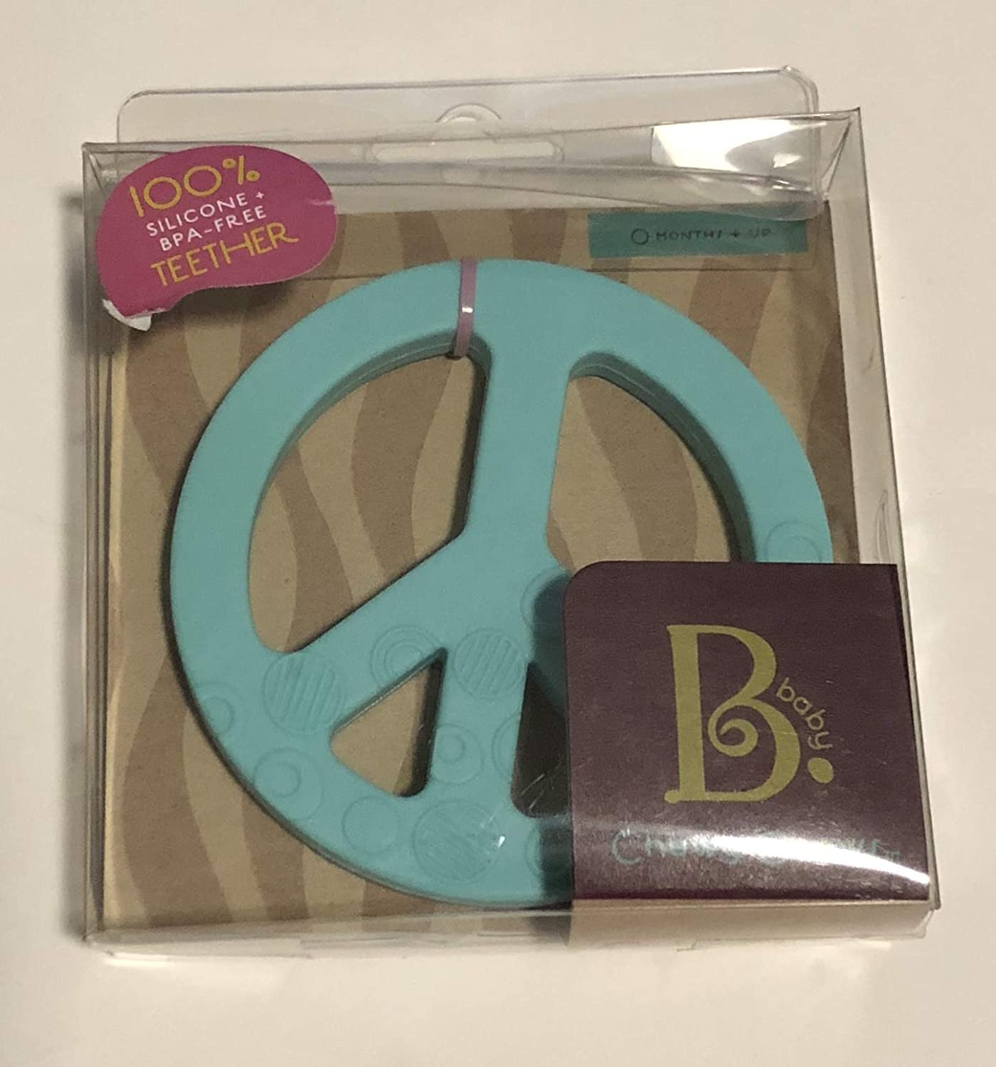 Baby Light Blue Peace Sign Chewy Chews B
