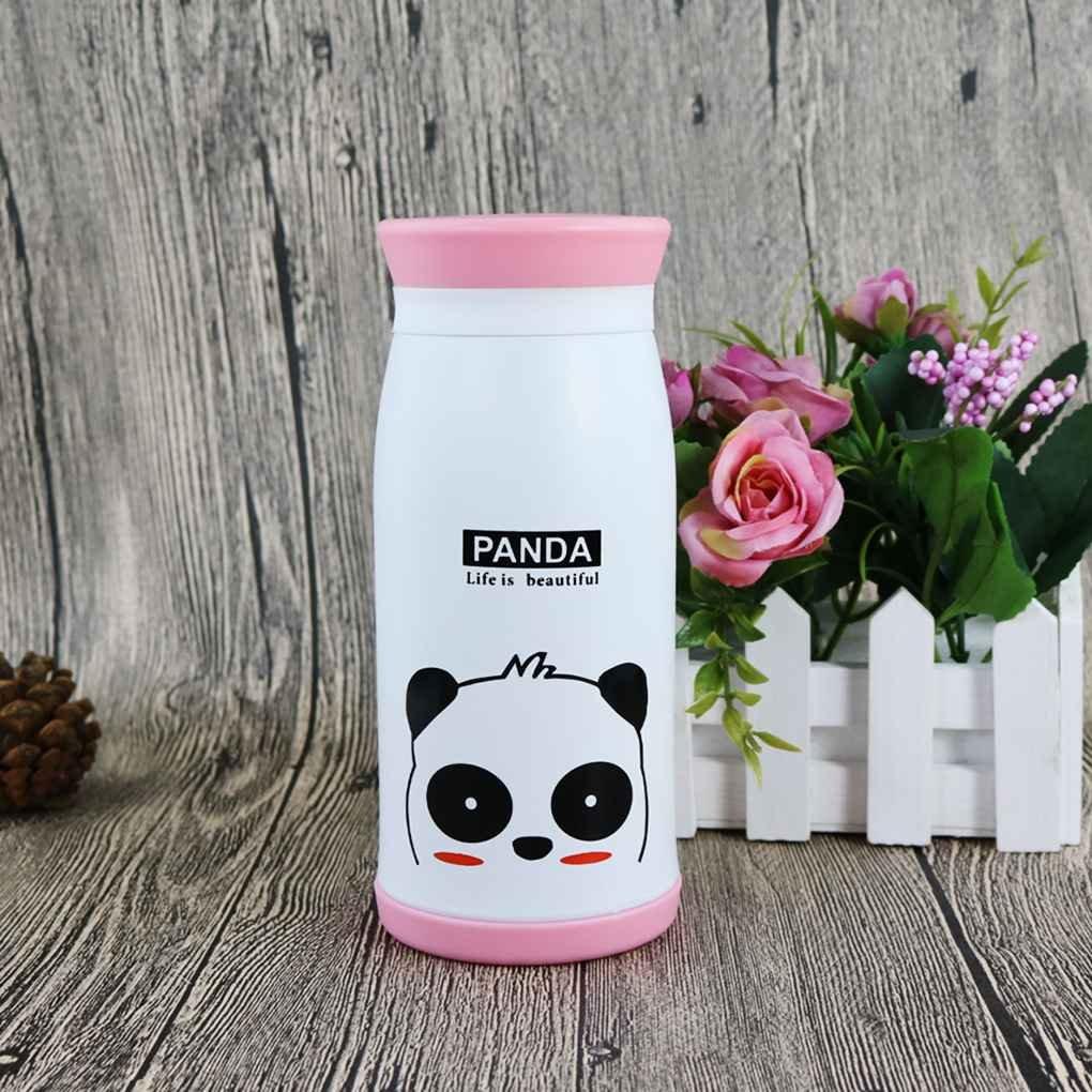 Gankmachine Taza de la Botella de 500 ML Animal de la Historieta del Acero Inoxidable Agua Estudiante Blanco