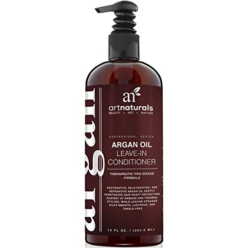 ArtNaturals Argan Oil Leave-In Conditioner - 354 ml Made with Organic and Natural Ingredients - for All Hair Types Ð Treatment for Damaged, Dry, Color Treated and Hair Loss