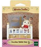 Sylvanian Families 5017.0 - Bébé Lapin Chocolat/Lit