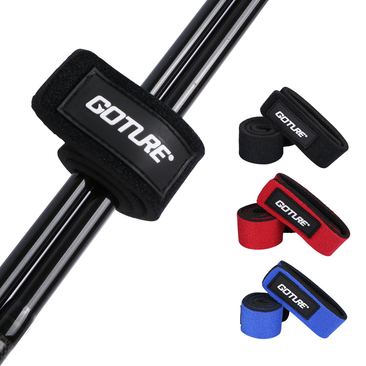 Goture Fishing Rod Belts Cable Tie Strap Stretchy Finishing Rod Holders Accessories
