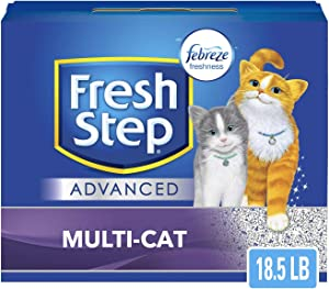 Fresh Step Multi-Cat with Febreze Freshness, Clumping Cat Litter