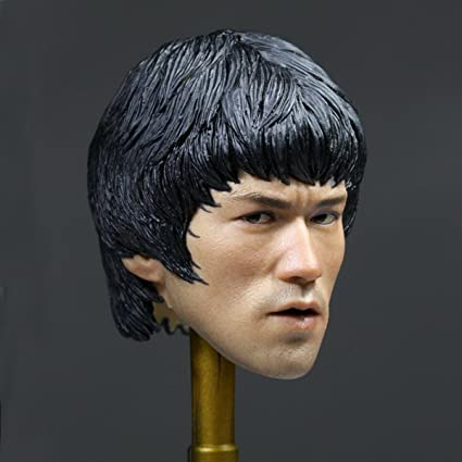 1//6 Scale Bruce Lee Head Sculpt for 12/'/' male figure body