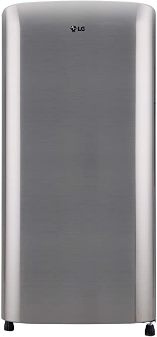 LG 190 L 3 Star Direct Cool Single Door Refrigerator  GL B201RPZD, Shiny Steel  Refrigerators