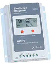 Photonic Universe 10A MPPT solar charge controller/regulator with built in LCD display for solar panels up to 130W (12V battery system) / 260W (24V battery system) up to 100V