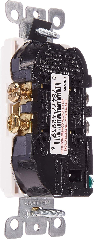 Leviton T5325-SW, Self Grounding, White - Electric Plugs -