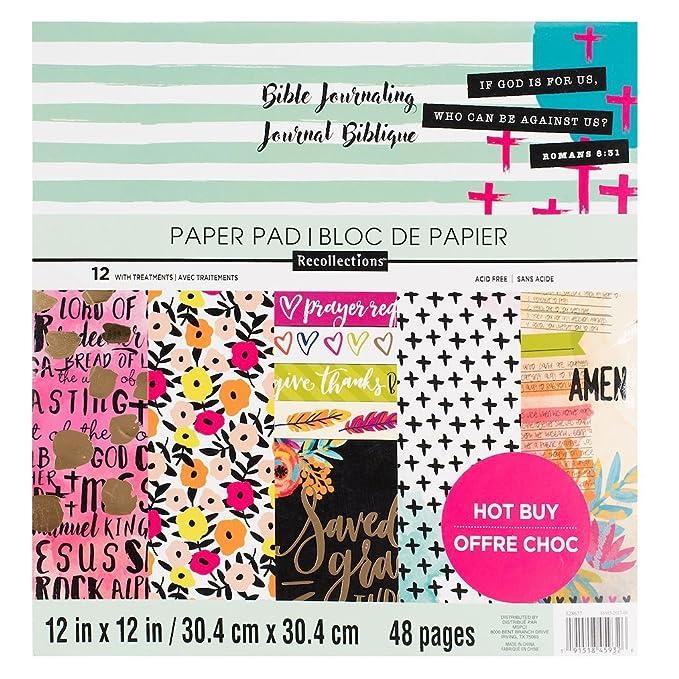 Bible Journaling 12x12 Paper Pad 48 Sheets