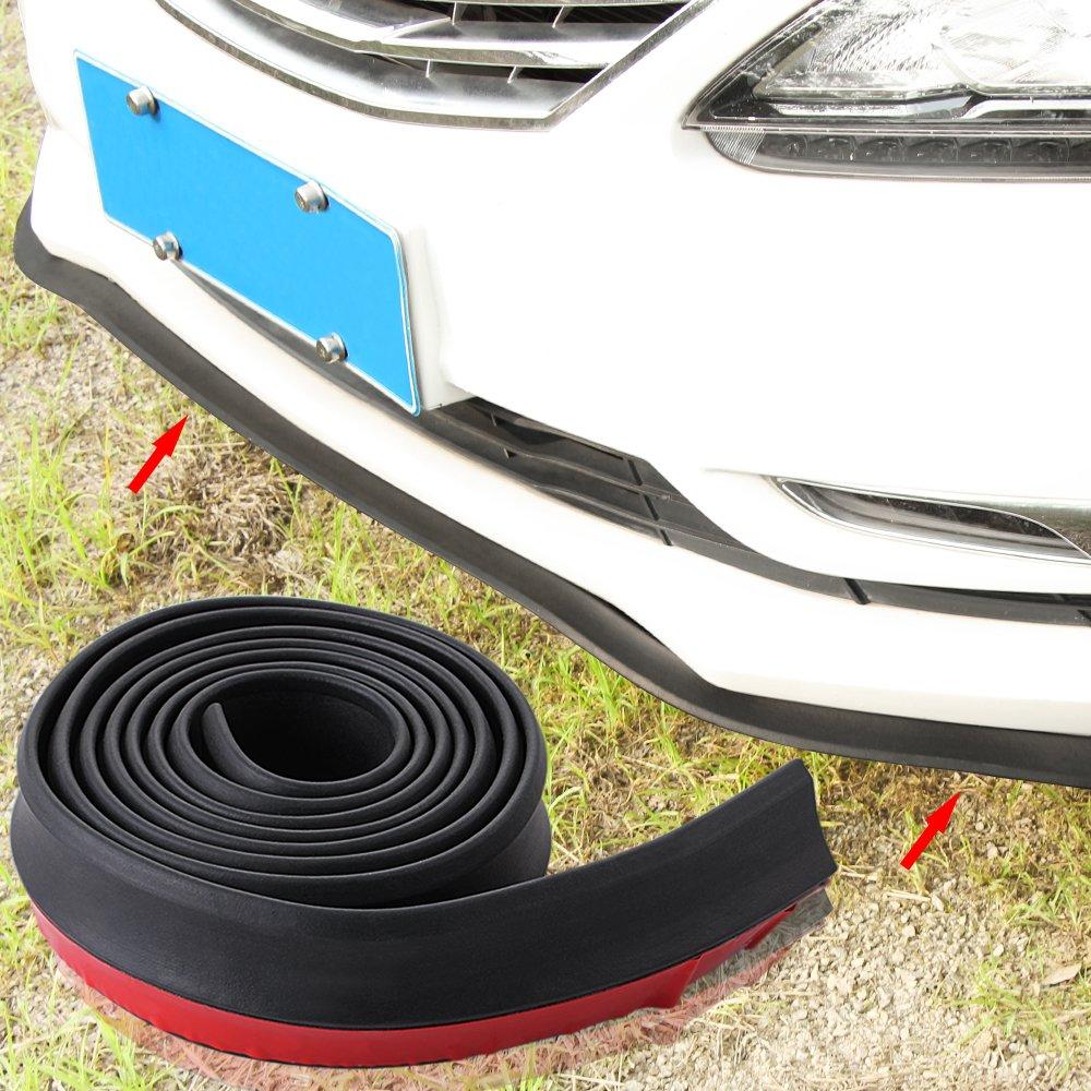 Car Rubber Front Bumper Guard Lip Spoiler Edge Strip Protection TOPDECO
