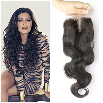6x2 Deep Long Parting Body Wave Lace Closure Bleached Knots With Baby Hair Brazilian Remy Human Hair Swiss Top Closure Lace Closures & Frontals