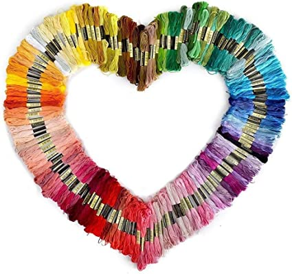 BESTINE Kit de Hilo de Bordar Amistad 150 Colores Colores Pulsera de Seda del Arco Iris 8m Cord/ón de Punto de Cruz Seda Hecha a Mano