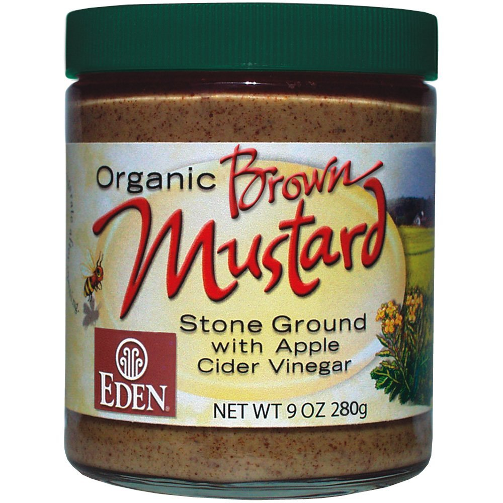 Organic Brown Mustard - 9 Oz. Glass Jar (Pack of 1)