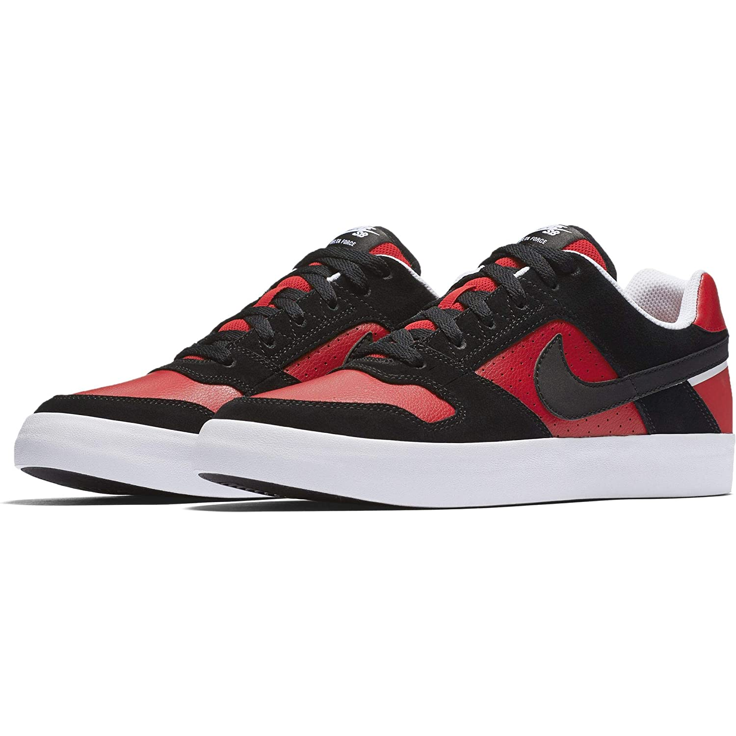 6673f84b4e Nike Men's Sb Delta Force Vulc Blk-University Red-Wht Skateboarding Shoes-6  UK/India(39 EU)(6.5 US) (942237-006): Buy Online at Low Prices in India ...