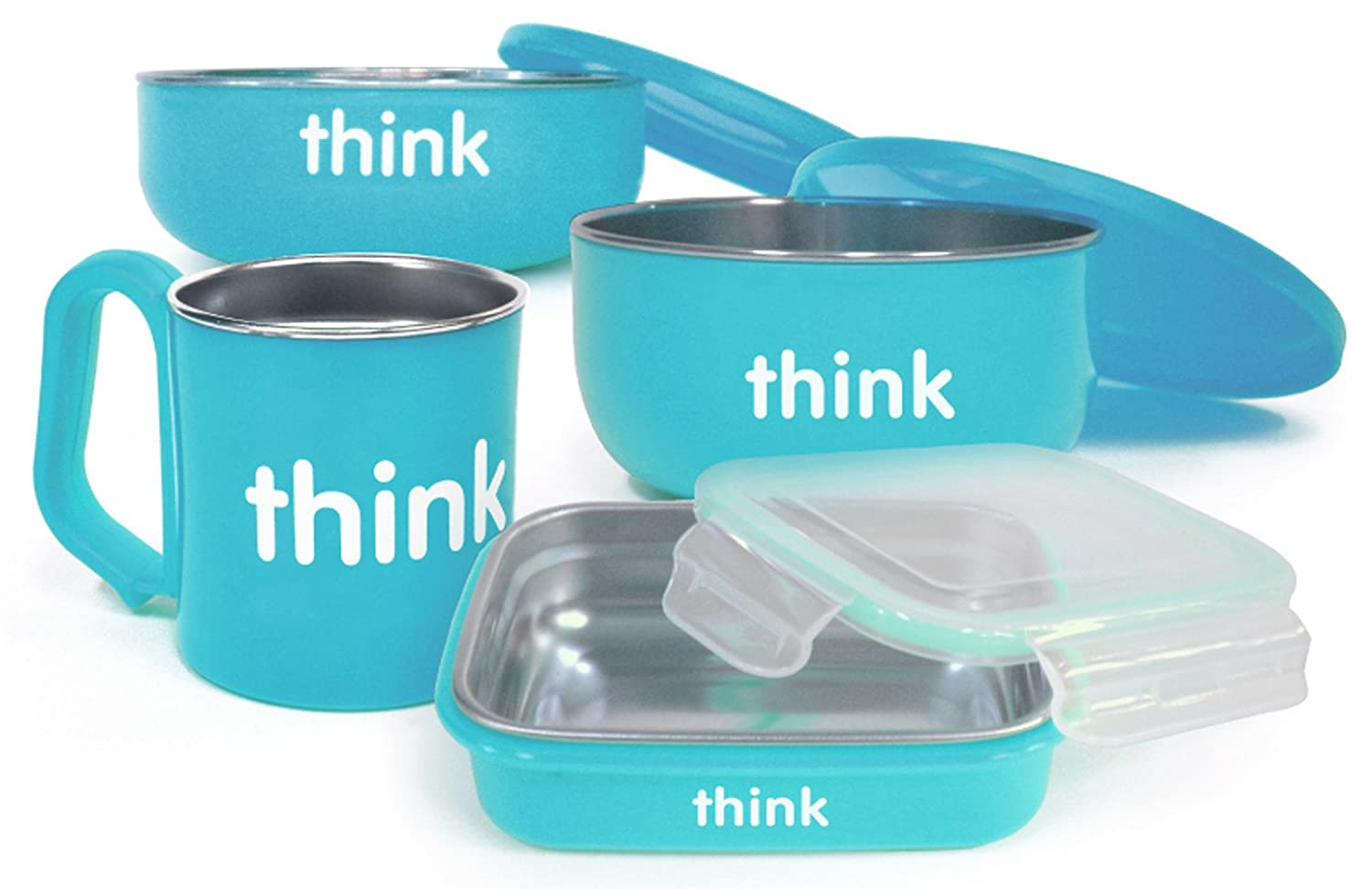 thinkbaby The Complete BPA Free Feeding Set, Light Blue 220102 - Lt Blue