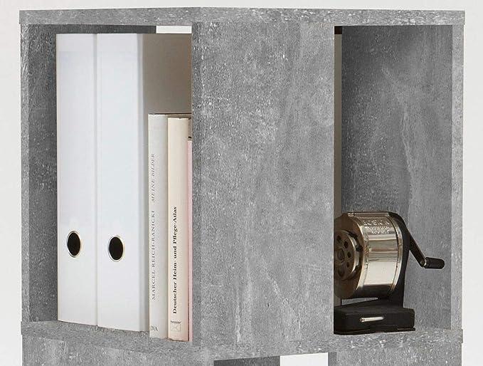 FMD Moebel Liberty I8 Libreria Girevole Grigio Nobilitato 34x34x108 H cm