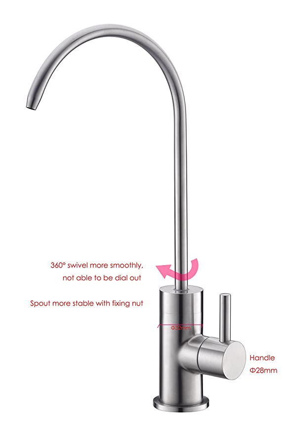 Havin Stainless Steel Reverse Osmosis Faucet, Drinking Water Faucet ...