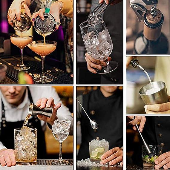 Camarero Kit De 12 Piezas Juego De Bar De Cócteles Shaker Set ...