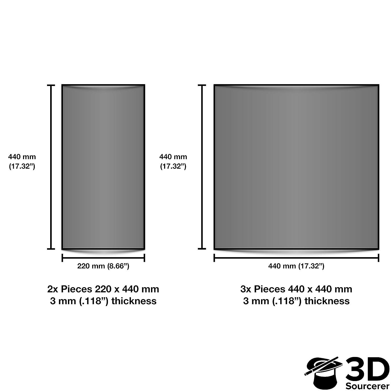 Plexiglass transparente de 3 mm para impresora IKEA Lack 3D (5 ...