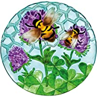 Evergreen Enterprises EG2GB567 Busy Bee Days 18″ Glass Bird Bath