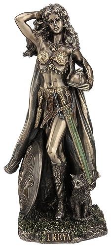 11.75 Norse God Freya Viking Statue Figure Figurine Sculpture Decor