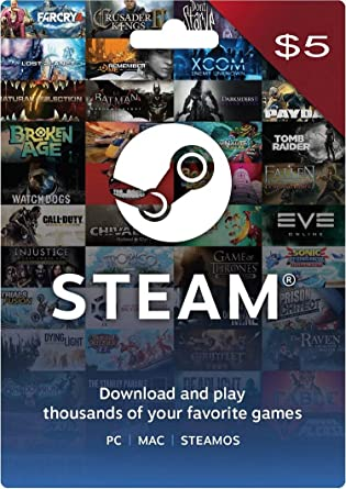 Steam Gift Card 5 USD (US Account Only) (Digital Code): Amazon in