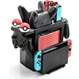 Controller Charger for Nintendo Switch, Charging Dock for Nintendo Switch 4 Joy-Cons, 4 Pro Controllers and 2 Poke Ball Plus