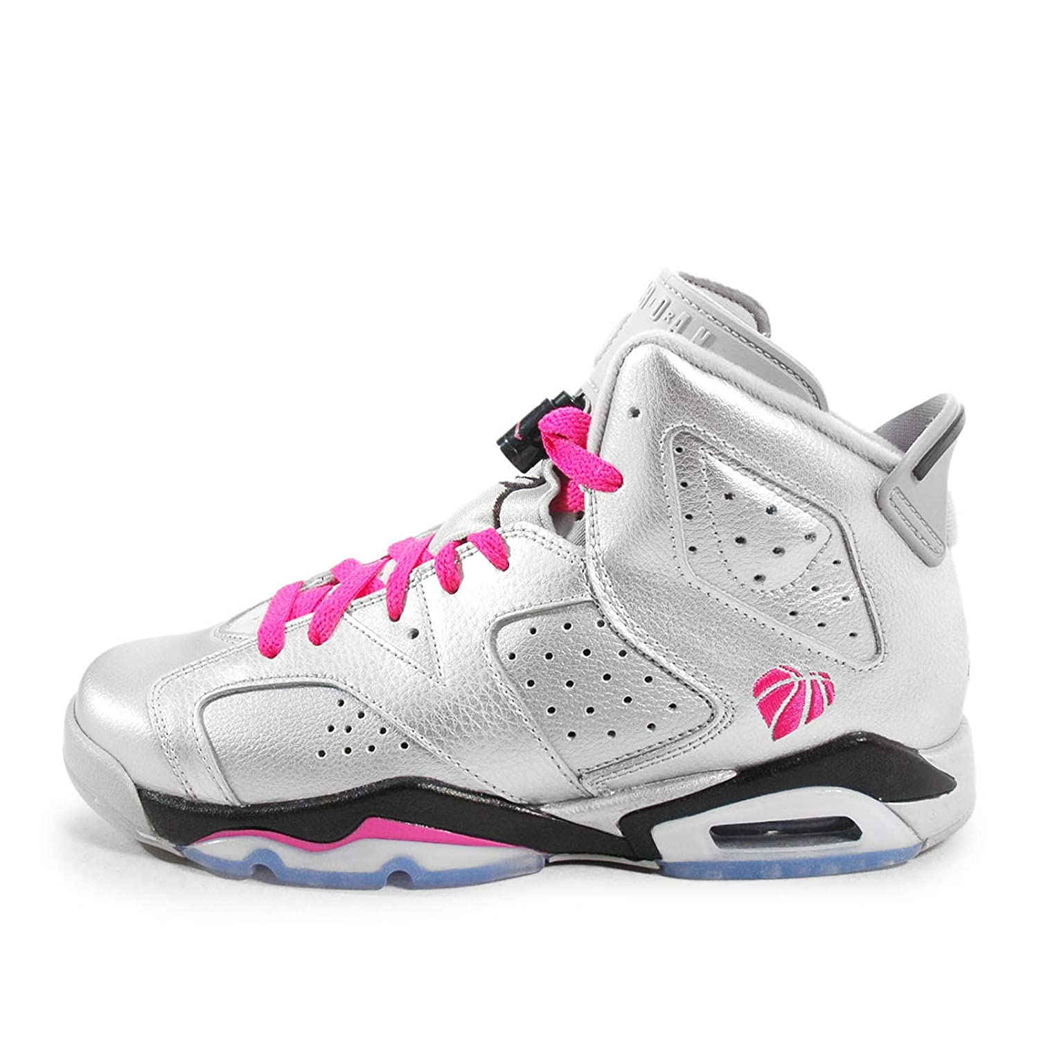 ナイキ(NIKE) Air Jordan 6 Retro GG Valentines Day シルバー ピンク 543390-009 (5.5Y(24cm)) [並行輸入品] B01IIJXIZI