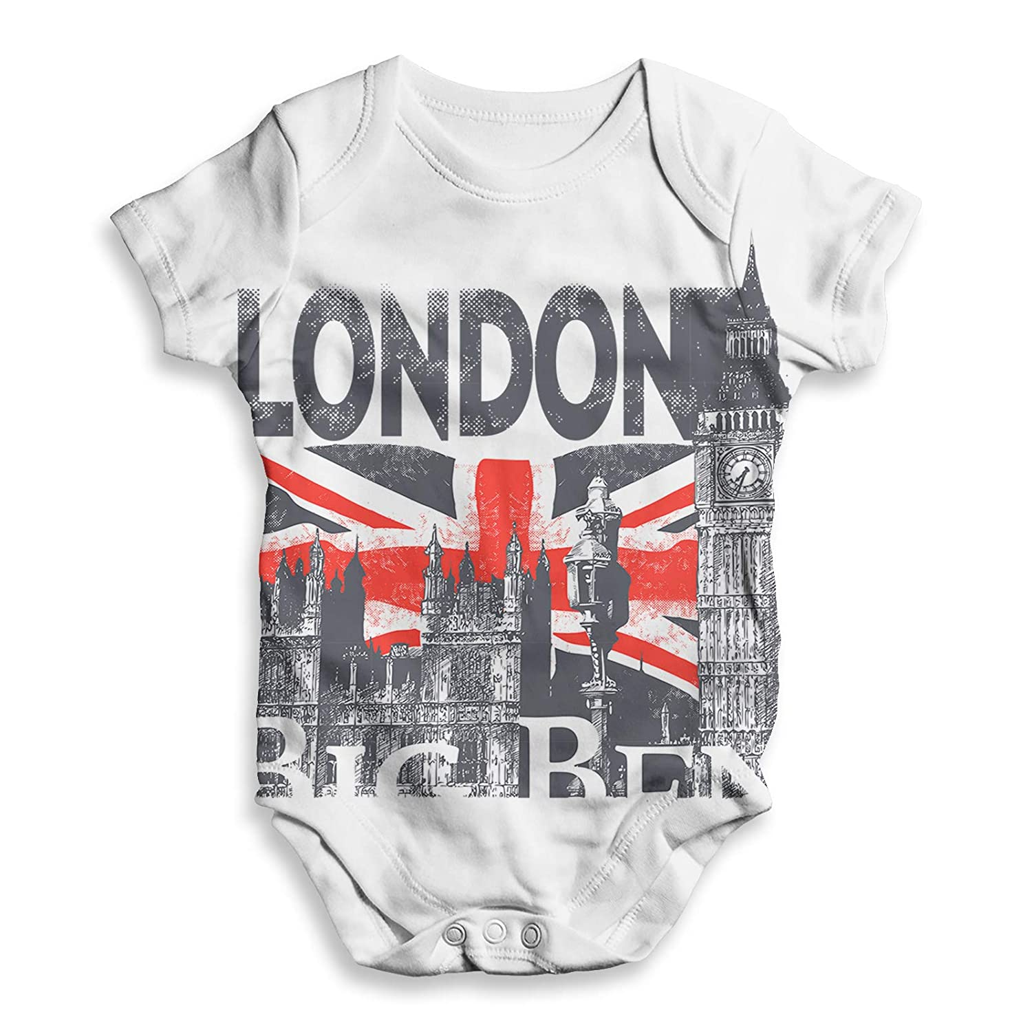 TWISTED ENVY Baby Clothes London Big Ben and Union Jack