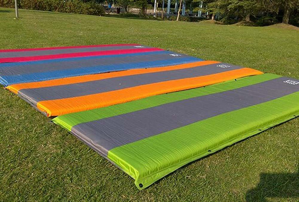 Nlne Automatische Aufblasbare Selbstaufblasende FeuchtigkeitsBesteändige Isomatte-Zelt-Luft-Matten-Matratze mit Kissen Für Kampierendes Im Freien,Gelb
