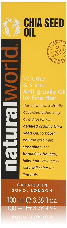 Natural World Chia Seed Oil Volume & Shine Oil 100 Ml - 100 ml