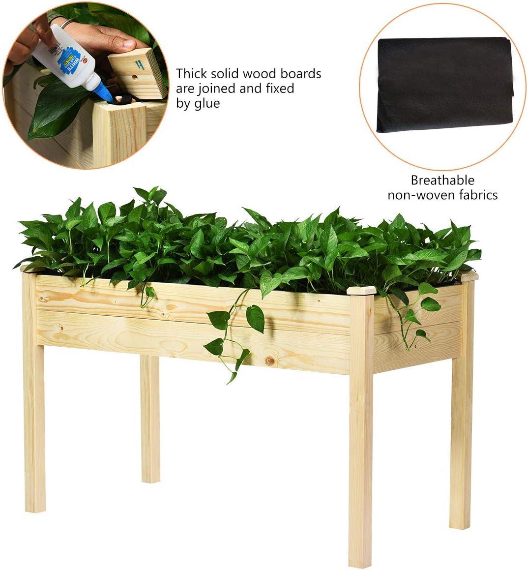 Giantex Jardín levantado Kit Cama elevada Planter Box para Las ...