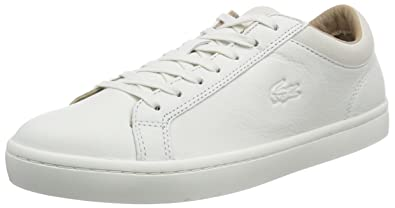 b0668b0520faf4 Lacoste Men s STRAIGHTSET CRF 2 Low-Top Trainer White Size  8.5 ...