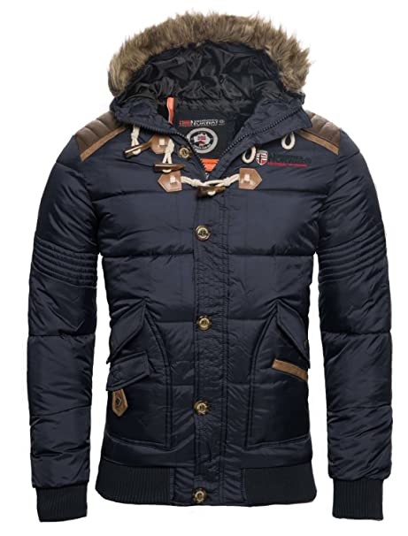 pretty nice a56c2 8de0b Geographical Norway - Giacca Invernale da uomo, trapuntata, Parka Belphegor
