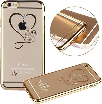 iPhone 6 Plus Cover Bumper,iPhone 6S Plus Custodia in TPU,2016 Plus URFEDA Neo Semplice Rigida Puro Transparent Ultra Slim Sottile Morbida TPU Gel ...