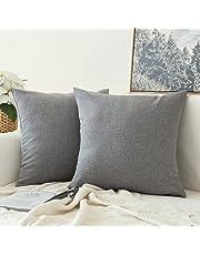 declumiere Solid Velet Square Throw Fundas de Almohada Funda de Almohada Funda de Almohada para sofá Suave cómodo Home Decor Decorativo 45,7x 45,7cm Pack de 4