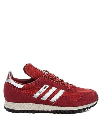 8285ca162786f8 adidas Mens Originals Mens New York Trainers in Burgundy - UK 10.5 (45 1