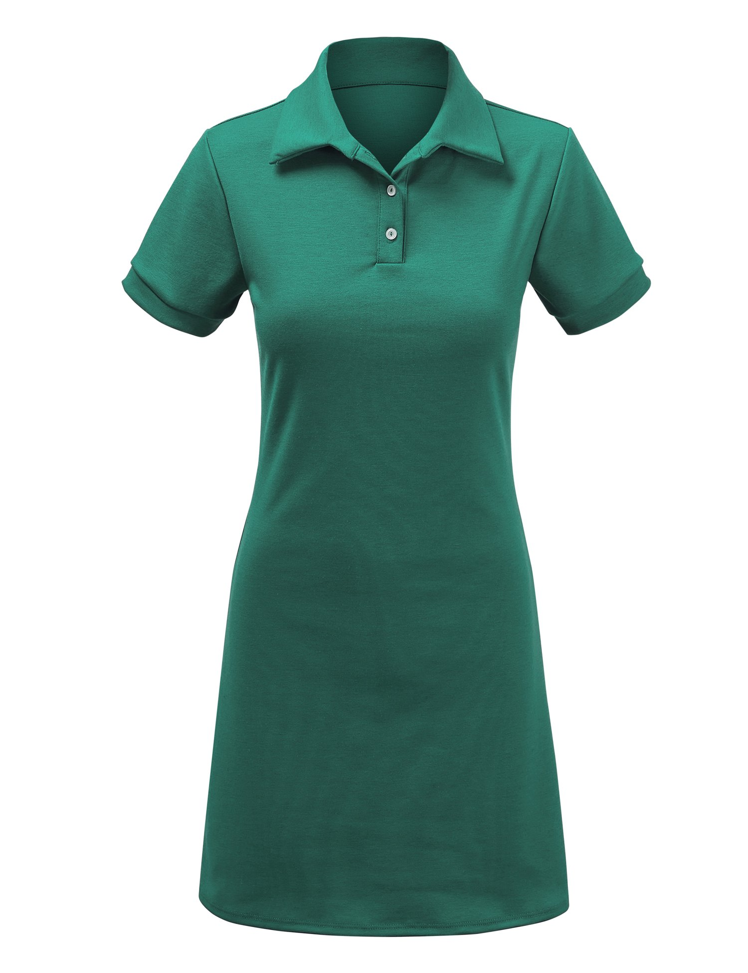 Come Together California WDR1379 Womens Short Sleeve Polo Dress - Made in USA L Jade