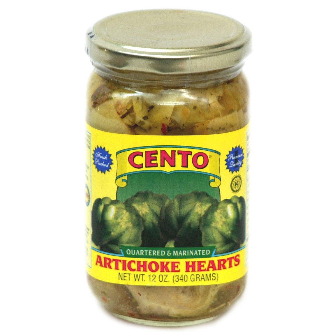 Cento - Marinated Artichoke Hearts, (4)- 12 oz. Jars