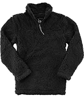 d36cb9cee1a17c PAAZA Women 1/4 Zip Pullover Frosty Pile Tipped Sweater Stadium ...