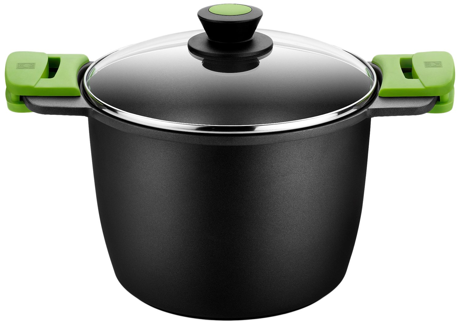 Braisogona BRA PRIOR - Tall stew pot with glass lid and silicon handles, 20 cm Braisogona_A403920