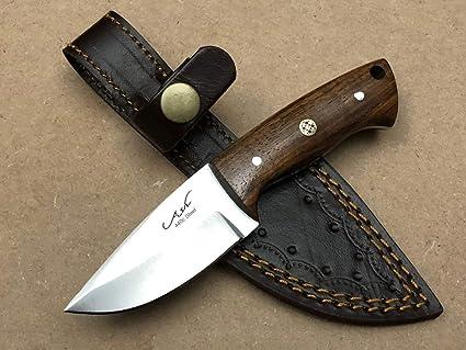 Amazon.com: Cuchillo de caza hecho a mano 440C de acero con ...