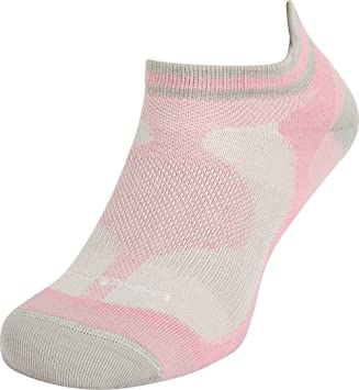 Lorpen Calcetines para las mujeres trilayer Multisport Ultralite Mini, mujer, gris y rosa,